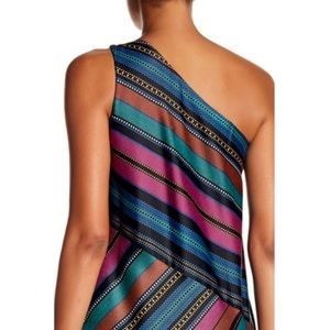 Maggy London Dresses - Maggy London one shoulder striped dress